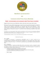 Manifesto commemorativo del Centenario della Prima Guerra