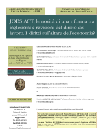 JOBS ACT, le novità di una riforma tra inglesismi e revisioni del