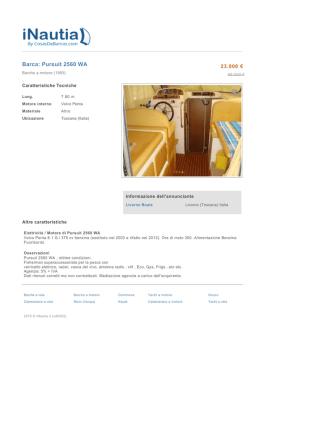 Barca: Pursuit 2560 WA