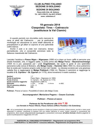 12 luglio - CAI Sezione di Bolzano