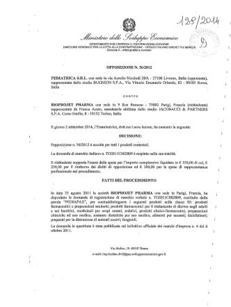 Decisione n. 128/2014 - Marchi e Brevetti Web
