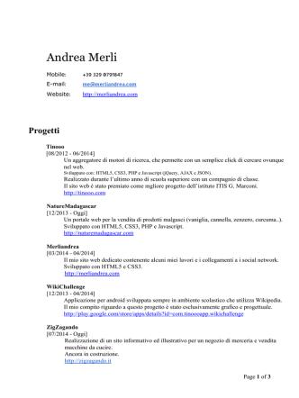 Andrea Merli - Merli Andrea