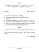 Clicca qui. - Accademia di Belle Arti Bologna