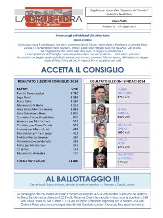 2014 giugno 04 - Numero 72 - del sito Brughiera dei Cittadini