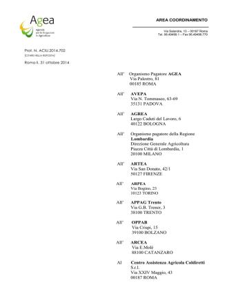 Circolare 31 ottobre 2014 n. ACIU.2014.702