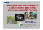 Il recupero delle aree estrattive e la conservazione