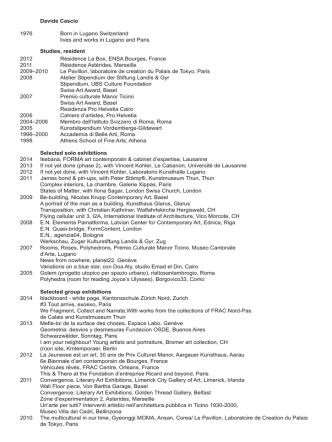 c.v.(pdf) - Davide Cascio