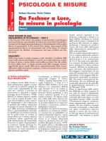 PSICOLOGIA E MISURE