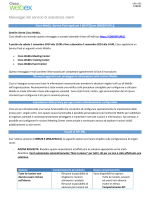 Messaggio del servizio di assistenza clienti