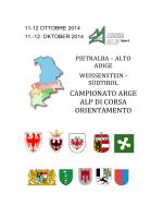 CAMPIONATO ARGE ALP DI CORSA ORIENTAMENTO