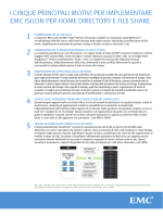 I motivi principali per scegliere EMC Isilon per home directory e file