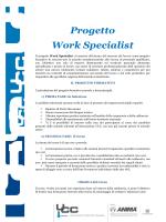 Flyer informativo Progetto Work Specialist