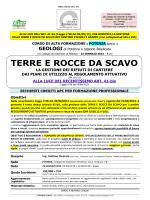 TERRE E ROCCE DA SCAVO - Ordine dei Geologi di Basilicata