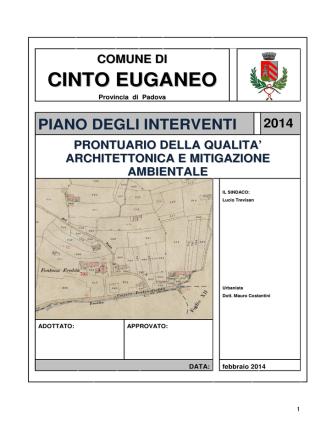 architettonica e mitigazione ambientale