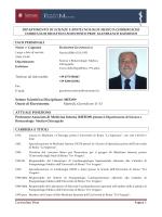 Curriculum Vitae Pagina 1 DIPARTIMENTO DI SCIENZE E
