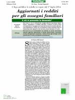 2014 06 12 .. Nuovi Limiti di Reddito per gli Assegni Familiari 2014