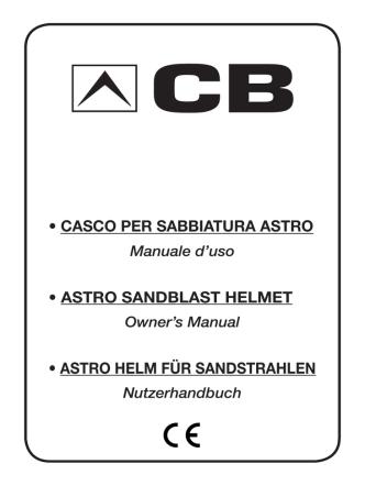 casco per sabbiatura astro • astro sandblast helmet