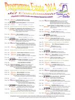 Programma spettacoli estate 2014