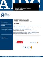 La Responsabilità Civile Professionale, AIDC Sezione di Lodi