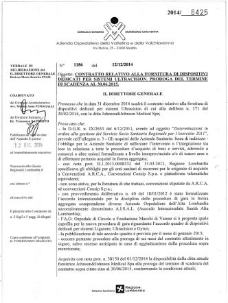 contratto relativo alla fornitura di dispositivi dedicati per sistemi