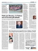 la pagina del Giornale di Brescia