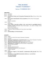 Il programma - Chiesa di Milano