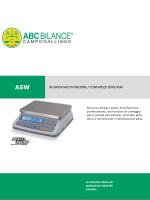 bilancia multifunzione / contapezzi serie asw