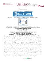 Comunicato - Istituto Ortopedico Gaetano Pini