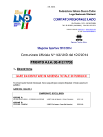 Comunicato Ufficiale N° 160/LND del 12/2/2014 PRONTO A.I.A.