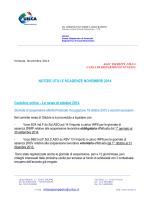 Notizie utili e scadenze novembre
