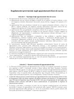 Regolamento provinciale sugli appostamenti fissi