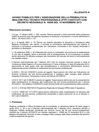 Allegato A - Ufficio scolastico regionale per la Lombardia