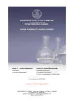 Guida ai corsi di laurea chimici 2014-2015