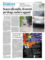 23 01 15 FG Scacco alla mafia, 26 arresti