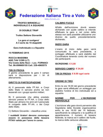 CORPI STATO GRAN PREMIO- DT 2015