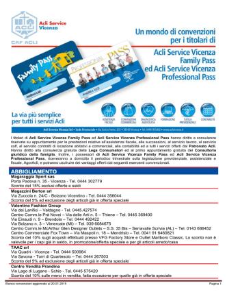 ABBIGLIAMENTO - ACLI Vicenza