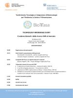 Programma TBE Milano - Assobiotec