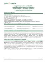 Foglio informativo n. 004/020. Deposito titoli e strumenti finanziari