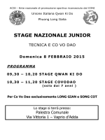 Stage_Junior_2015_Vaprio - Unione Italiana Qwan Ki Do