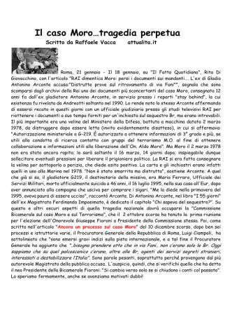 24.01.2015 Il caso Moro....tragedia perpetua.