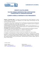 CV - CS Nomina Pasqua (2 - Gruppo bancario Credito Valtellinese