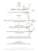 Scarica il nostro menu - Osteria di Passignano