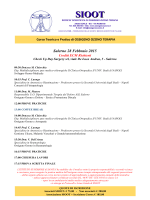 Salerno 28 Febbraio 2015 - Società Scientifica di Ossigeno Ozono