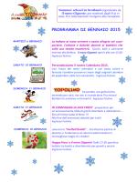 programma di gennaio 2015