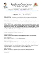 Sintesi del programma della stagione 2014-2015