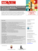 1° Congresso Provinciale del Comitato Scientifico di AIC
