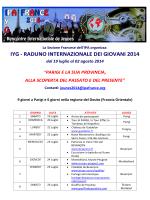 IYG - RADUNO INTERNAZIONALE DEI GIOVANI 2014