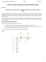 4.Relazione completa sviluppi di Fourier onde quadre
