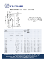 Neptunia Swivel crown shackle pruduct sheet