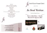 concerto In soul veritas – programma